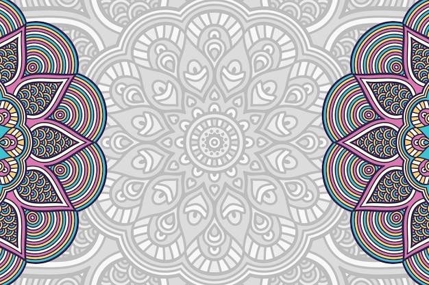 Hand drawn mandala background