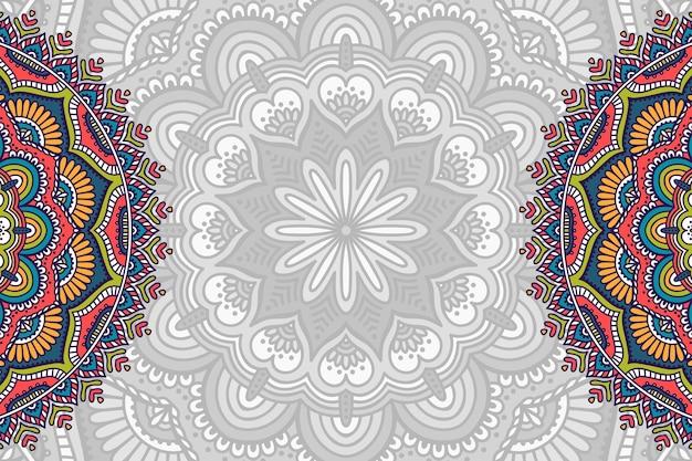 Hand drawn mandala background Free Vector
