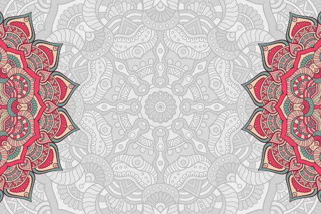 Hand drawn mandala background
