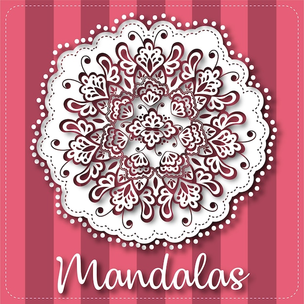 Hand-drawn mandala background