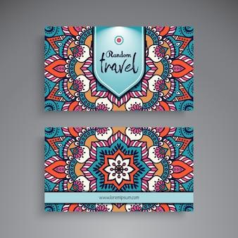 Hand drawn mandala business card