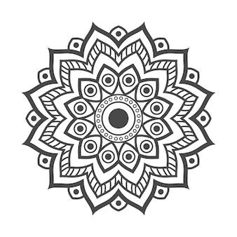 塗り絵の手描き曼荼羅