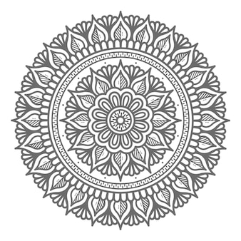 Hand drawn  mandala illustration with circle style for abstract and decorative concept