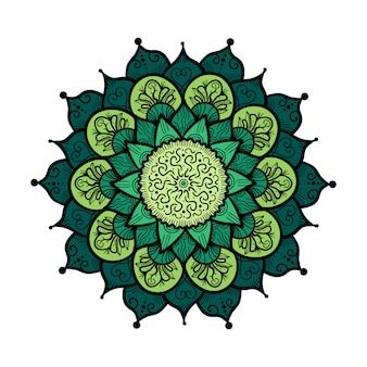 Hand drawn Mandala in arabic, indian, islam and ottoman culture decoration style