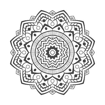 白い背景の上の手描きの曼荼羅