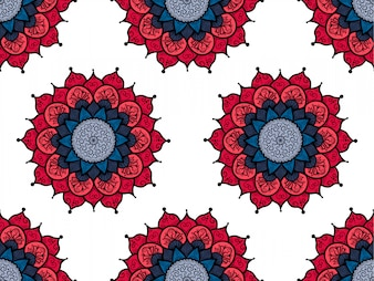 Hand drawn Mandala Seamless Pattern. Arabic, indian, turkish and ottoman culture decoratio