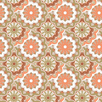 Hand drawn mandala seamless pattern