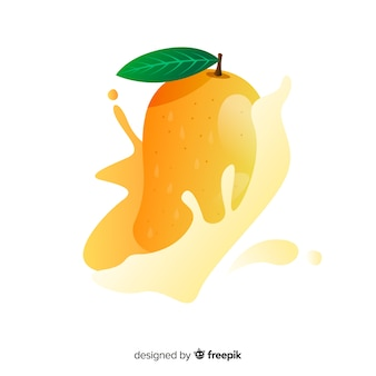 Hand drawn mango background