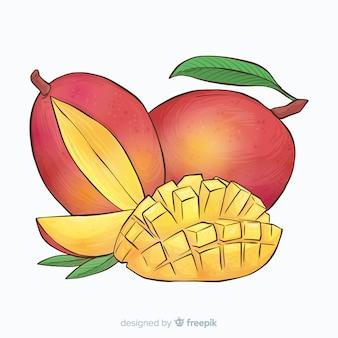 Hand drawn mango background