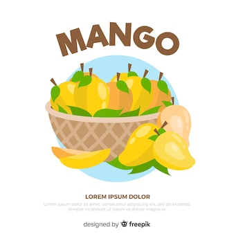 Ручной обращается манго корзина фон