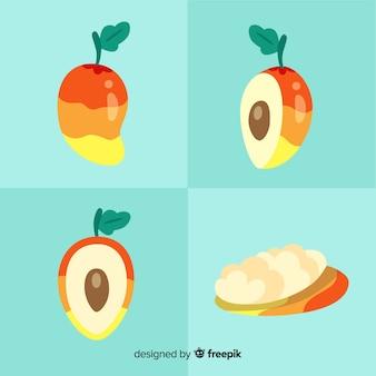 Hand drawn mango collection