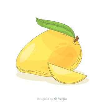Hand drawn mango illustration