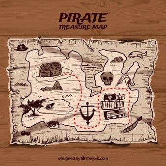 Hand drawn map background