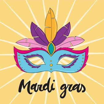 Hand-drawn mardi gras event concept