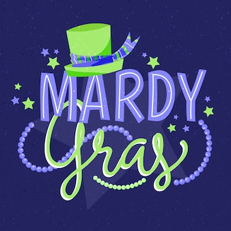 Hand-drawn mardi gras event