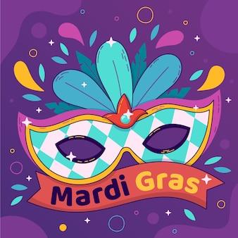 Hand drawn mardi gras template