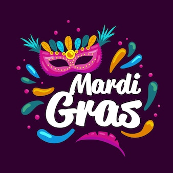 Hand drawn mardi gras
