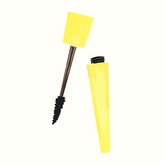 Hand drawn mascara isolated on white background