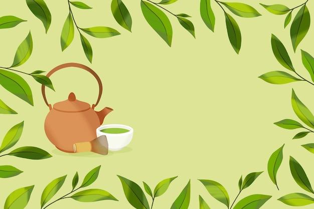 手描き抹茶の背景