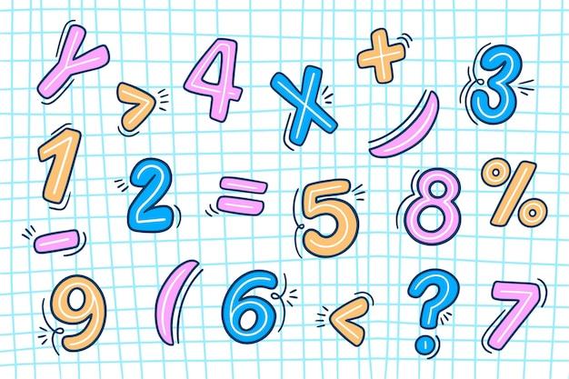 手描きの数学記号コレクション