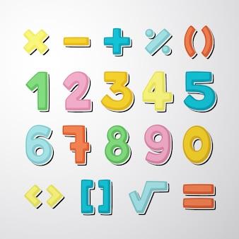 Набор рисованной математических символов