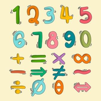 손으로 그린 수학 기호