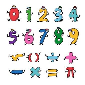 Simboli matematici disegnati a mano Vettore gratuito