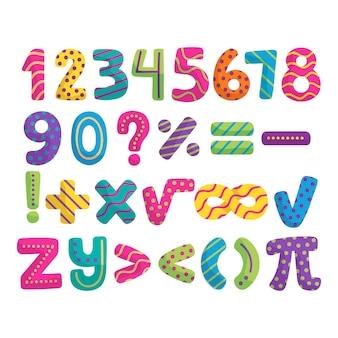 Вручите оттянутые математические символы