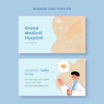 Hand drawn medical business card horizontal