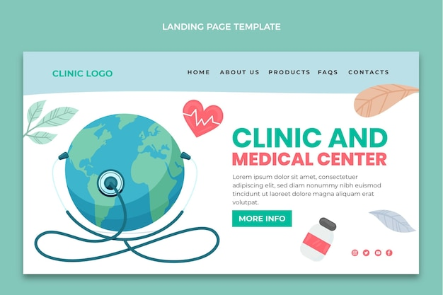 Hand drawn medical landing page