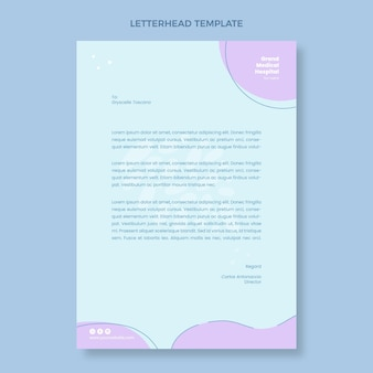 Hand drawn medical letterhead