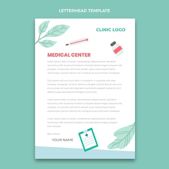 Carta intestata medica disegnata a mano