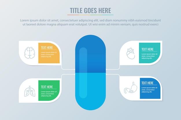 Infografica di farmaci disegnati a mano