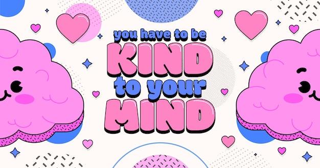 Hand drawn mental health facebook post