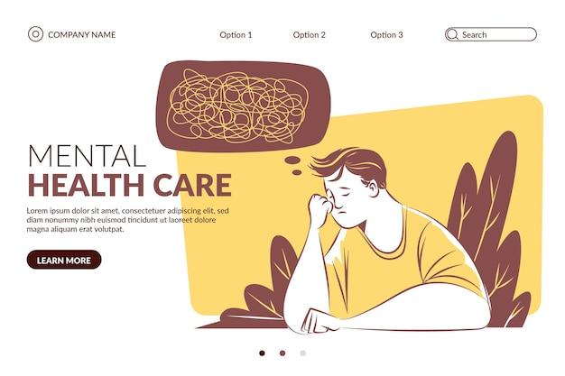 Ручной обращается шаблон целевой страницы психического здоровья
