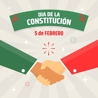 Hand drawn mexican constitution day illustration
