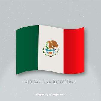 손으로 그린 멕시코 국기 배경