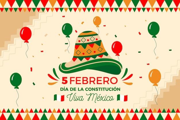 手描きのメキシコ憲法記念日