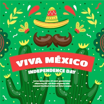 Hand drawn mexico independence day
