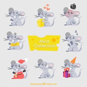 손으로 그린 마우스 컬렉션