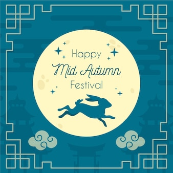 Hand-drawn mid-autumn festival concept