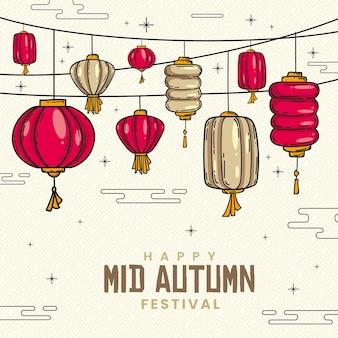 Ручной обращается фестиваль середины осени