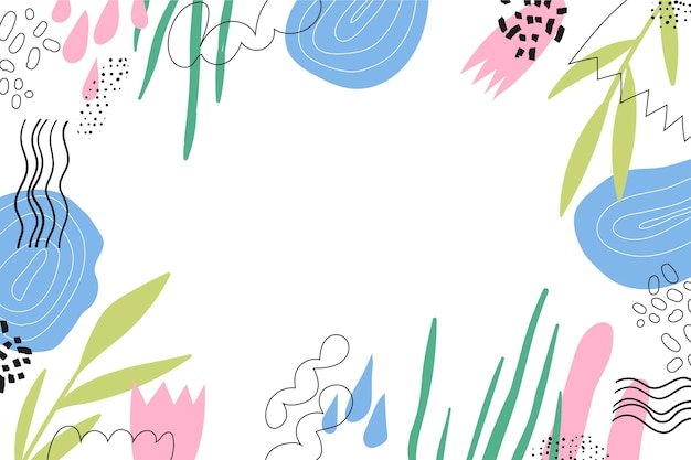 Hand drawn minimal background with empty space