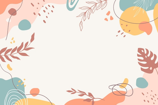 Hand drawn minimal background