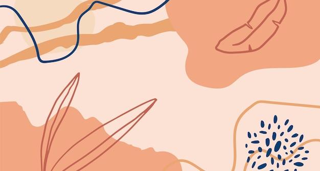 手描きの最小限の背景