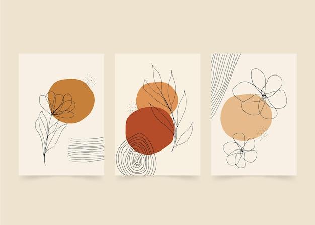 Collezione di copertine minimali disegnate a mano