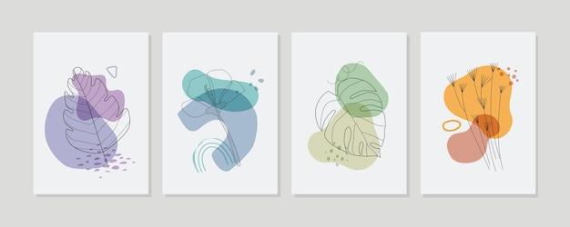 손으로 그린 최소한의 손으로 그린 커버 컬렉션