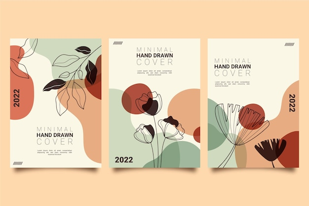 Hand drawn minimal hand drawn cover collection