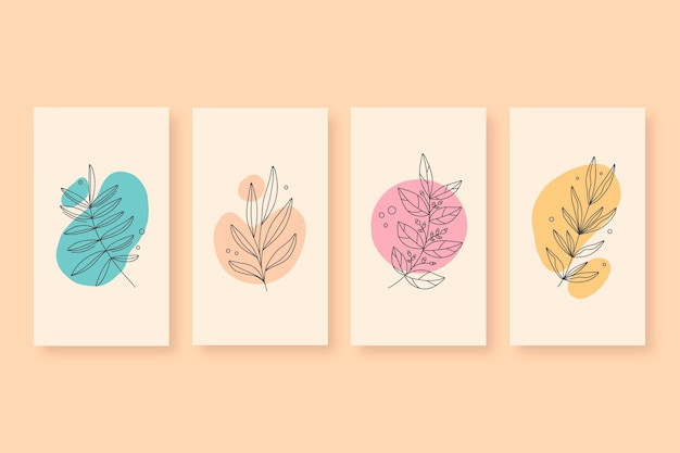 Hand drawn minimal hand drawn covers collection