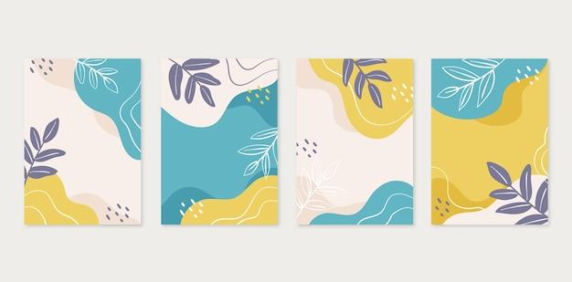 Collezione di copertine disegnate a mano minimal disegnate a mano